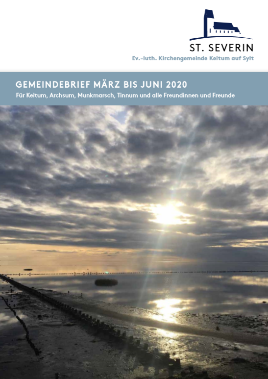 Gemeindebrief- März bis Juni 2020